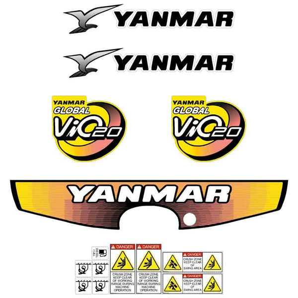 Yanmar Vio20-3 Decals Stickers Kit