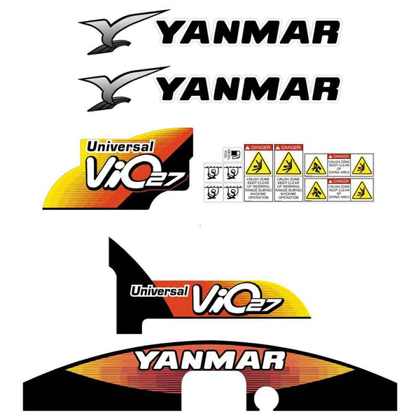Yanmar Vio27-5 Decals Stickers Kit