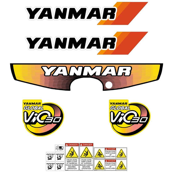 Yanmar Vio30-2 Decals Stickers Kit