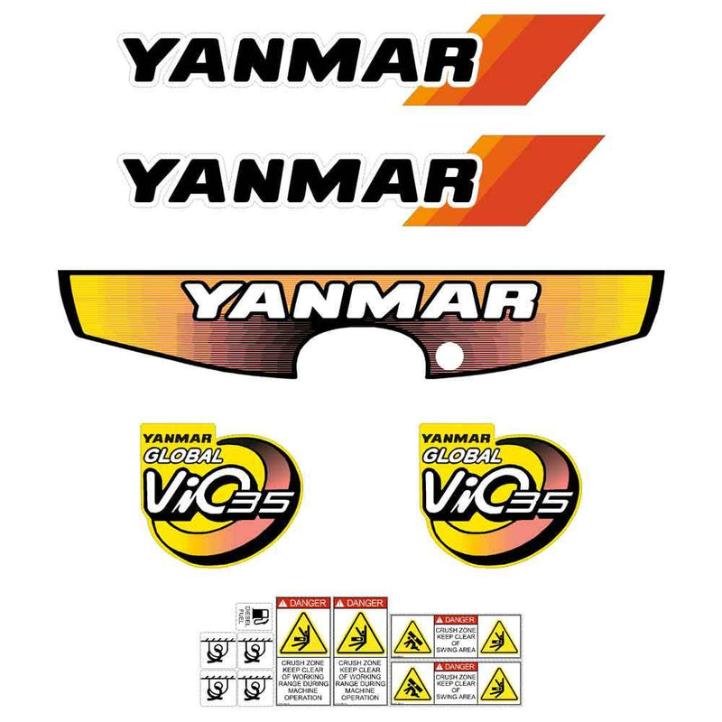 Yanmar Vio35-2 Decals Stickers Kit