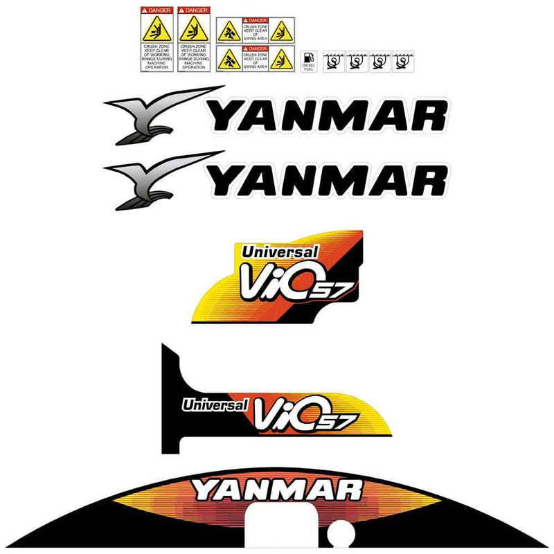 Yanmar Vio57 Decals Stickers Kit