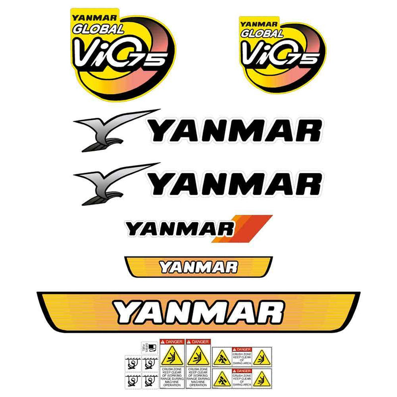 Yanmar VIO75 Decals Stickers Kit