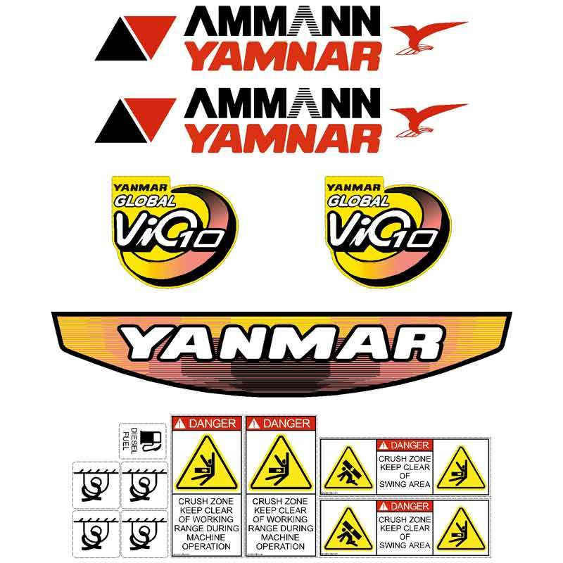 Yanmar Vio10-2 Decals Stickers Kit
