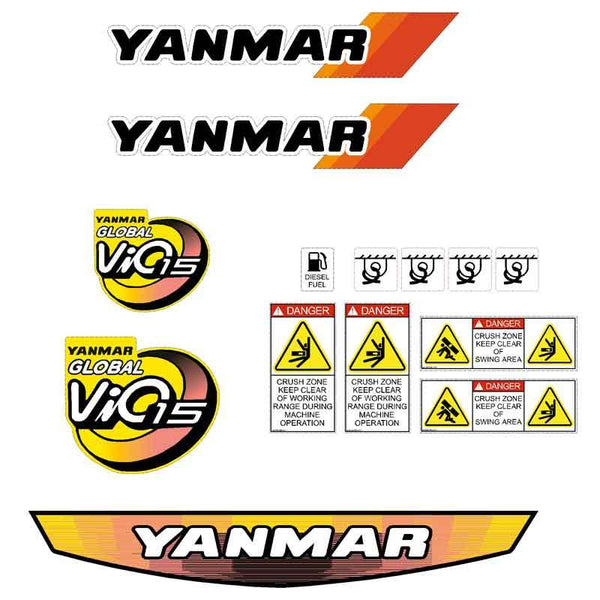 Yanmar Vio15 Decals Stickers Kit