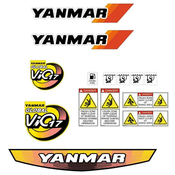 Yanmar Vio17 Decals Stickers Kit