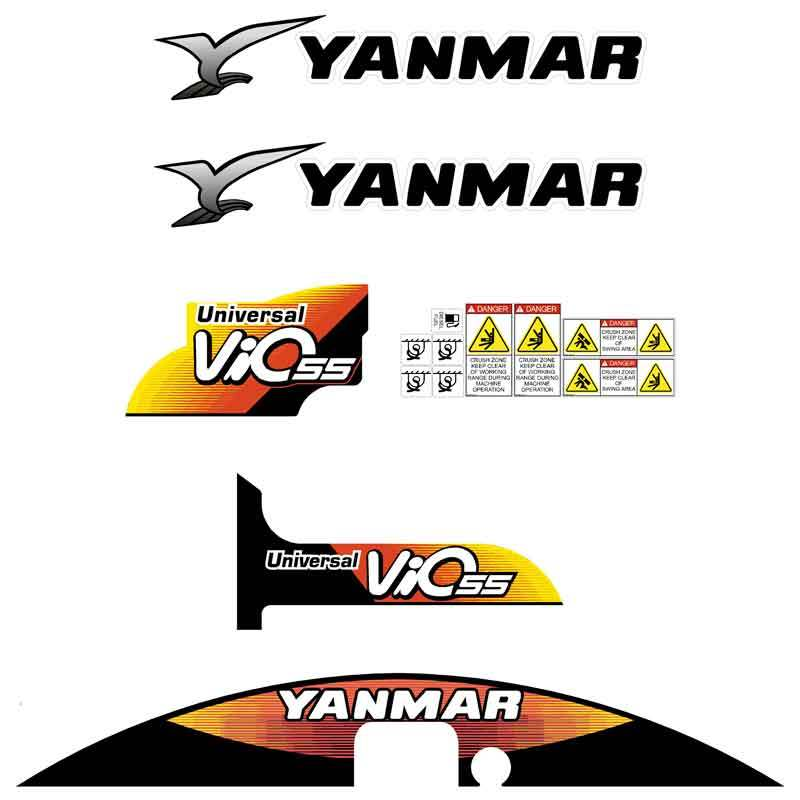 Yanmar Vio55-5 Decals Stickers Kit