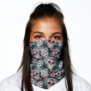Snood - Skulls and Roses
