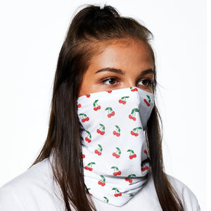 Snood - White With Cherries