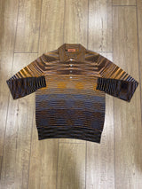 Missoni Long Sleeve Polo Shirt - Mixed Orange