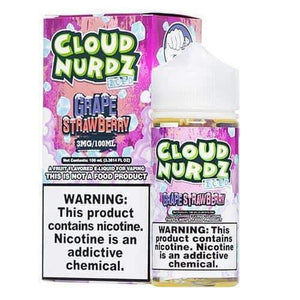 Cloud Nurdz ICED Grape Strawberry - 100mL-EJuice-Online