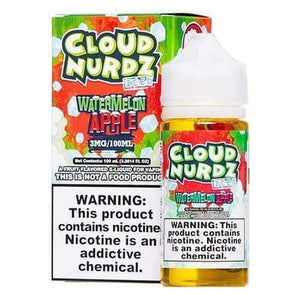 Cloud Nurdz ICED Watermelon Apple - 100mL-EJuice-Online