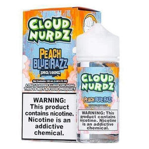 Cloud Nurdz Peach Blue Razz - 100mL-EJuice-Online