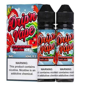 Drip N Vape Strawberry Melon ICE - 120mL-EJuice-Online