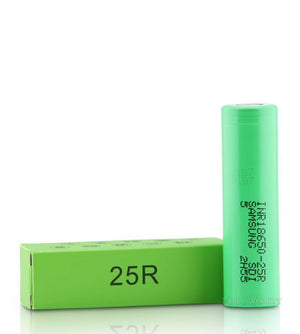 Samsung INR18650-25R Green Flat Top 2500mAh IMR Battery-EJuice-Online