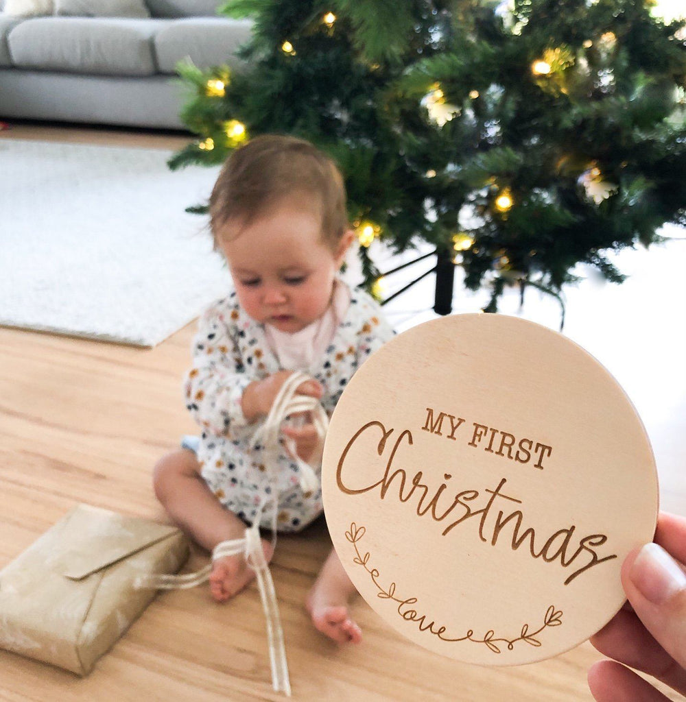 Milestone Plaque-My First Christmas