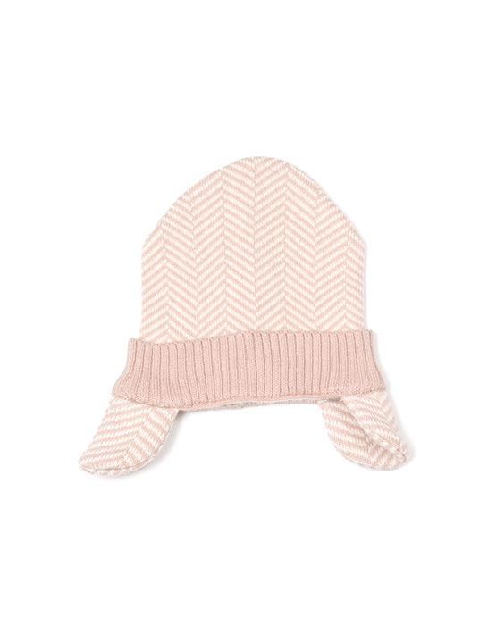 Pink Ear Flap Baby Hat