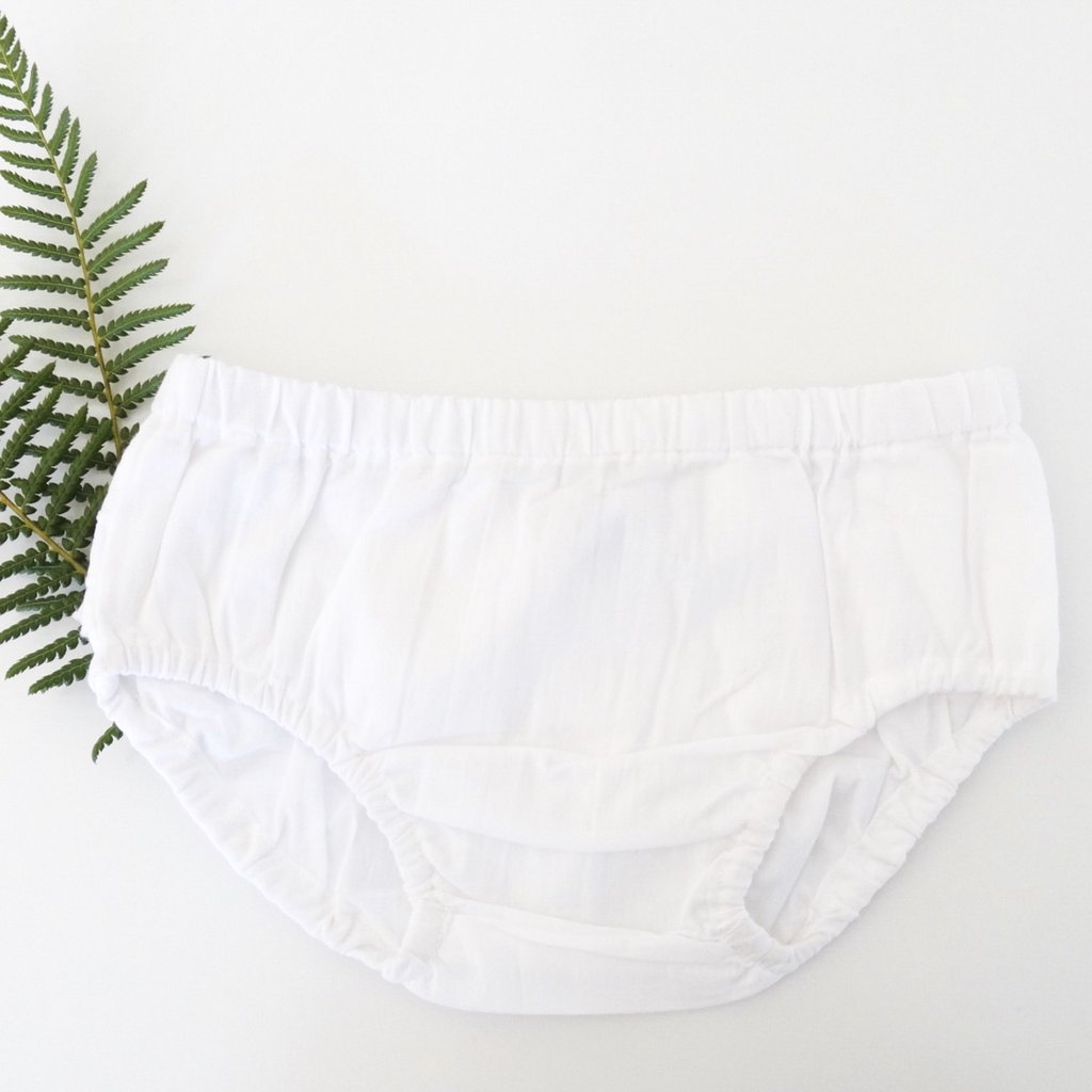 White Ruffle Bum Bloomers