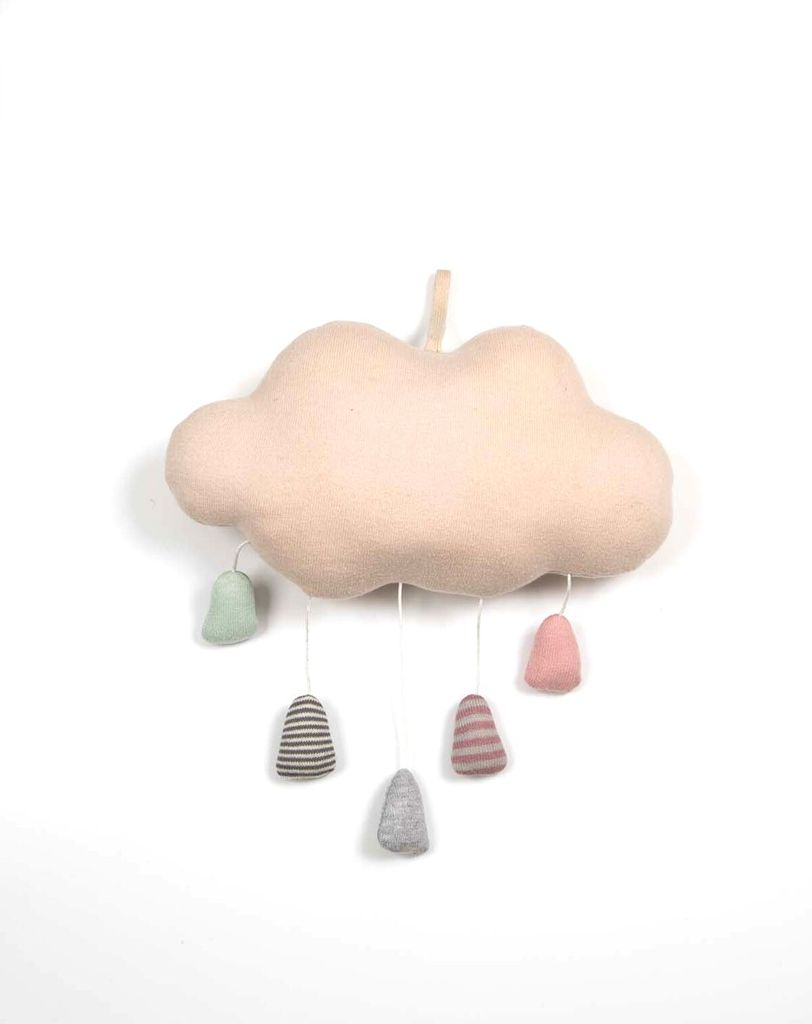 Rain Cloud Musical Mobile-Blush and Pastels
