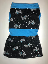 Load image into Gallery viewer, Blue/Black Collared dress