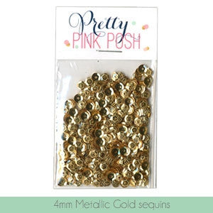 4mm Metallic Gold Cupped Sequins