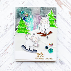 Yetitide Greetings with Evelin T Designs Cutaways