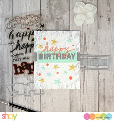 In a Word: Birthday Tiles Cutaways