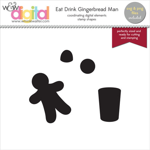 Eat Drink Gingerbread Man Digital Elements