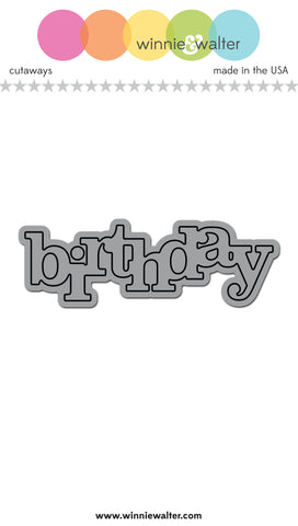 In a Word: Birthday Cutaway