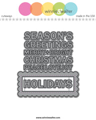 In a Word: Holiday Tiles Cutaways