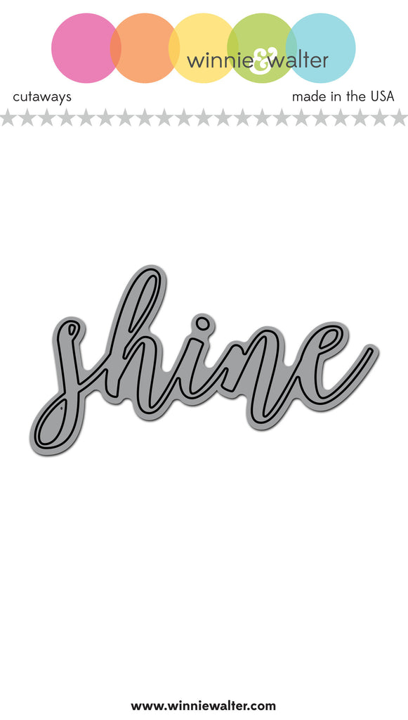 In a Word: Shine Script Cutaway