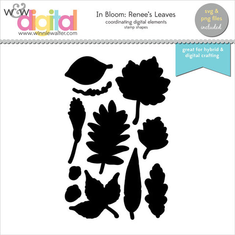 In Bloom: Renee's Leaves Digital Elements