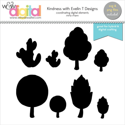 Kindness with Evelin T Designs Digital Elements