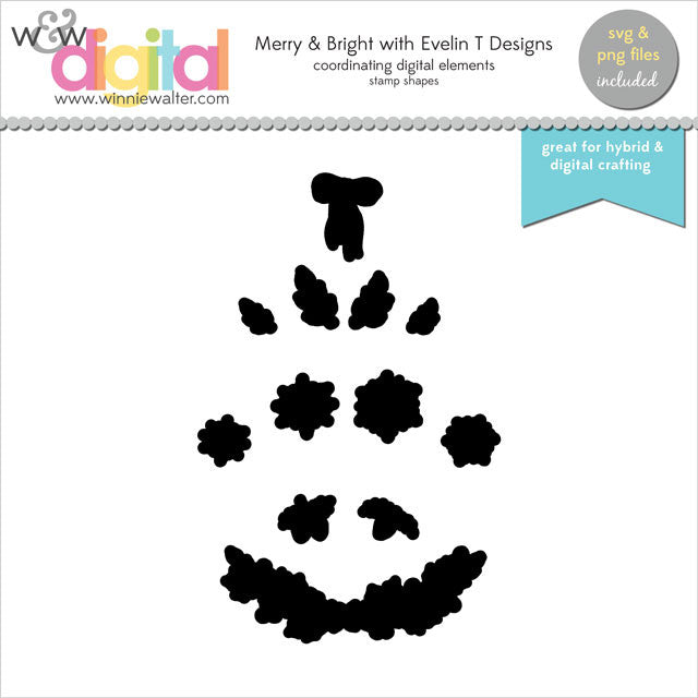 Merry & Bright with Evelin T Designs Digital Elements
