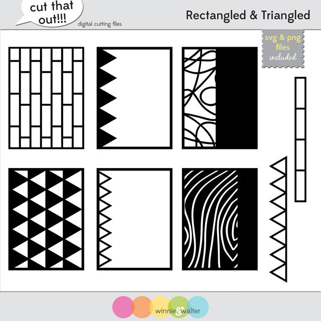 Scenery: Rectangled & Triangled Cut Files