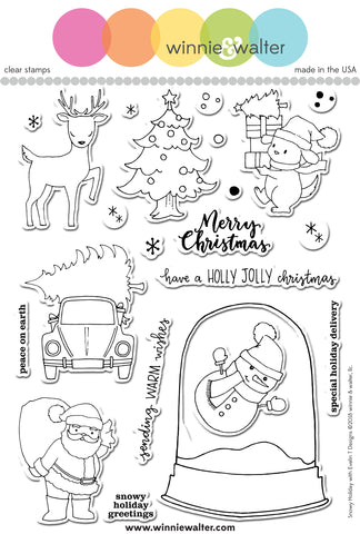 Snowy Holiday with Evelin T Designs