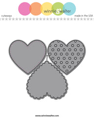 True Dotty Heart Cutaways