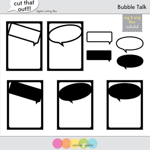 Bubble Talk Cut Files