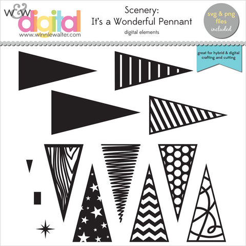 Scenery: It's a Wonderful Pennant Digital Elements