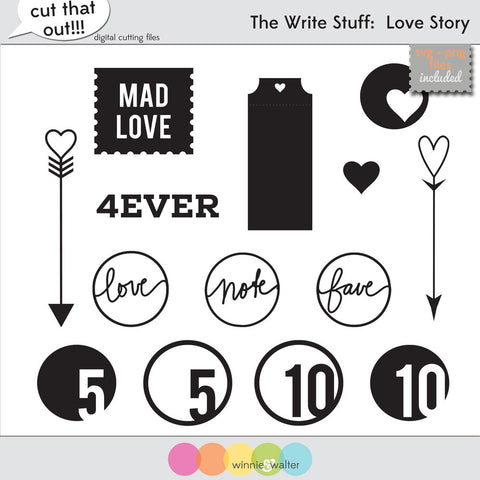 The Write Stuff: Love Story Cut Files