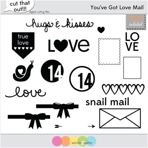 You've Got Love Mail Cut Files
