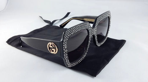 GUCCI - Crystal Frame Sunglasses GG logo NEW