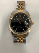 Load image into Gallery viewer, Rolex Oyster Perpectual Date 15053 two-tone s.s. 18k gold w/ black dial