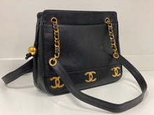 Load image into Gallery viewer, CHANEL TRIPLE BASE LOGO CAVIAR LEATHER TOTE BAG