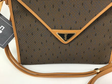 Load image into Gallery viewer, YVES ST. LAURENT TRIANGULAR FLAP CANVAS BAG