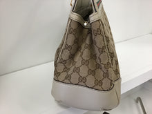 Load image into Gallery viewer, GUCCI MAYFAIR GG CANVAS & WEB TOTE BAG