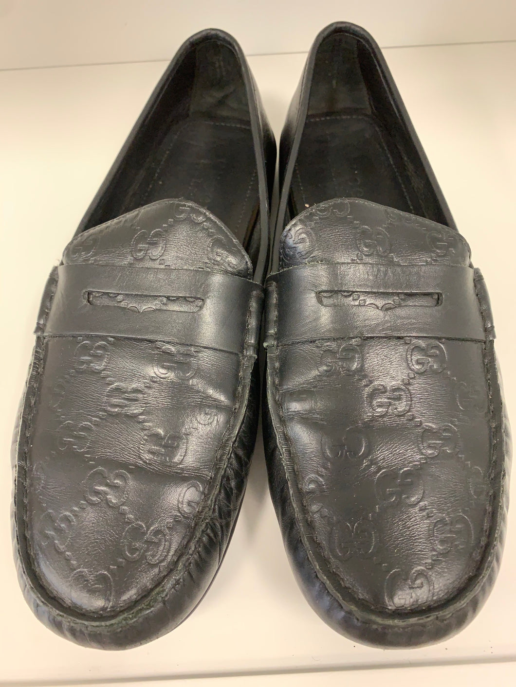 Gucci Signature Driver black  loafers size 12US