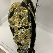 Load image into Gallery viewer, Versace Medusa Head Black and Gold Backpack