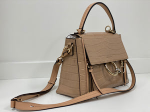 CHLOE FAYE DAY SHOULDER BAG croc effect