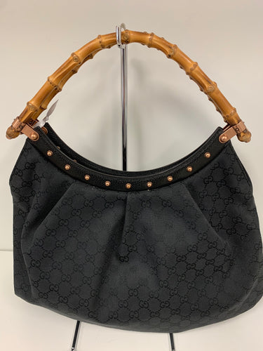 GUCCI Bamboo Handle Shoulder Satchel Bag