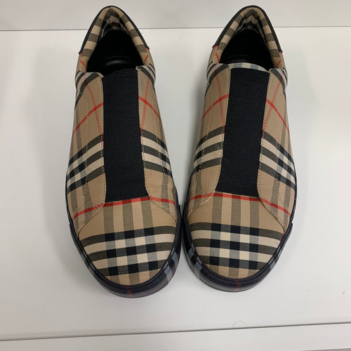 Burberry Markham Check Slip-on Sneakers